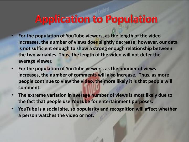 Application to Population