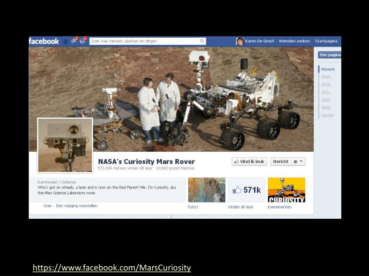 https://www.facebook.com/MarsCuriosity