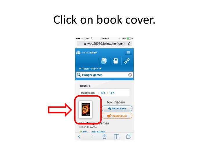 Click on book cover.
