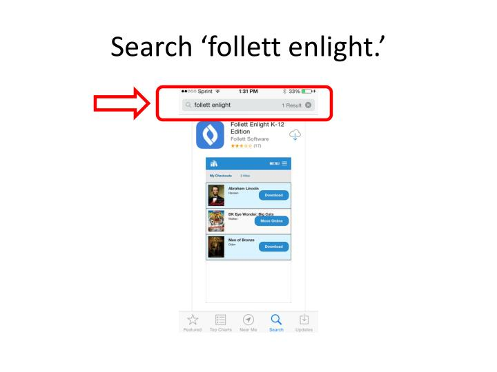 Search follett enlight