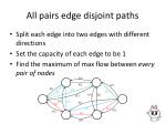 all pairs edge disjoint paths