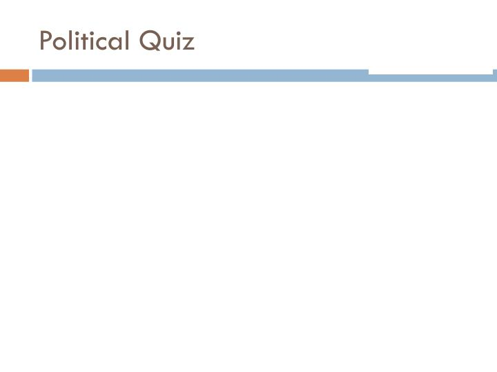 Political Quiz