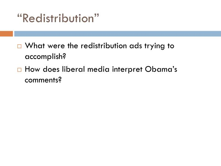 """Redistribution"""