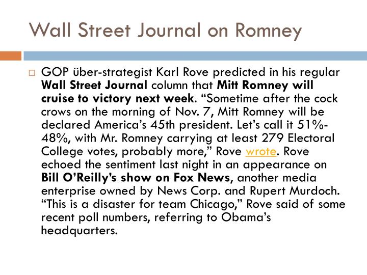 Wall Street Journal on Romney