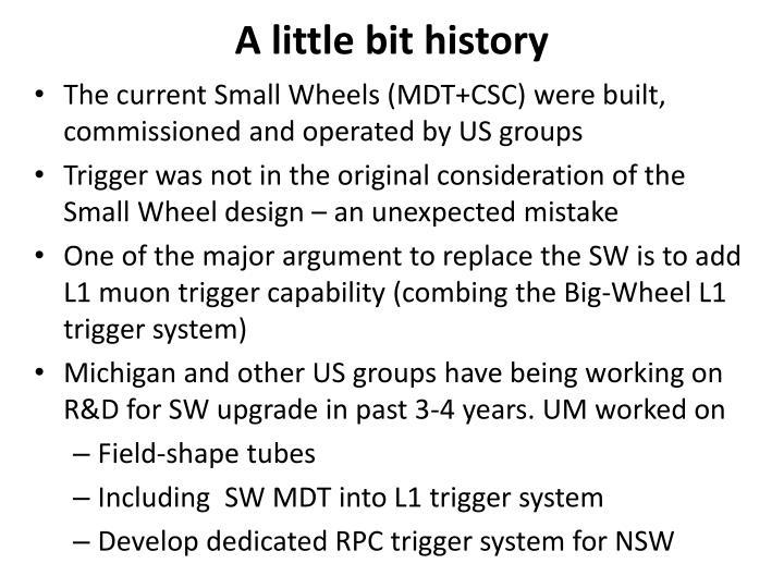 A little bit history