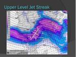 upper level jet streak