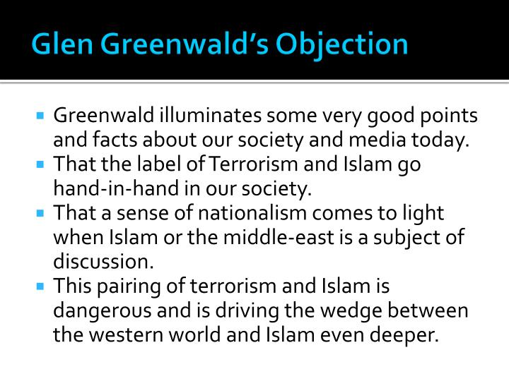 Glen Greenwald's Objection