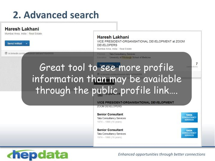 2. Advanced search