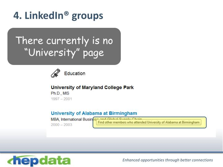 4. LinkedIn® groups