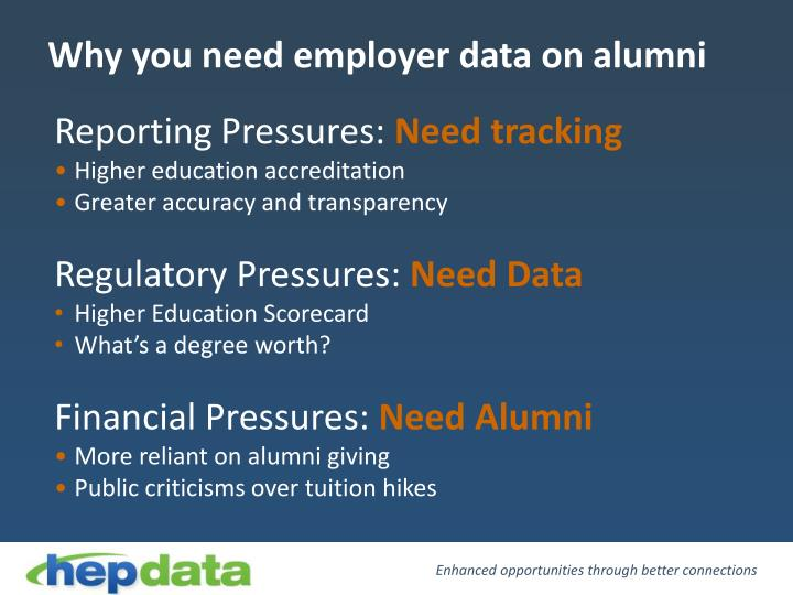 Why you need employer data on alumni