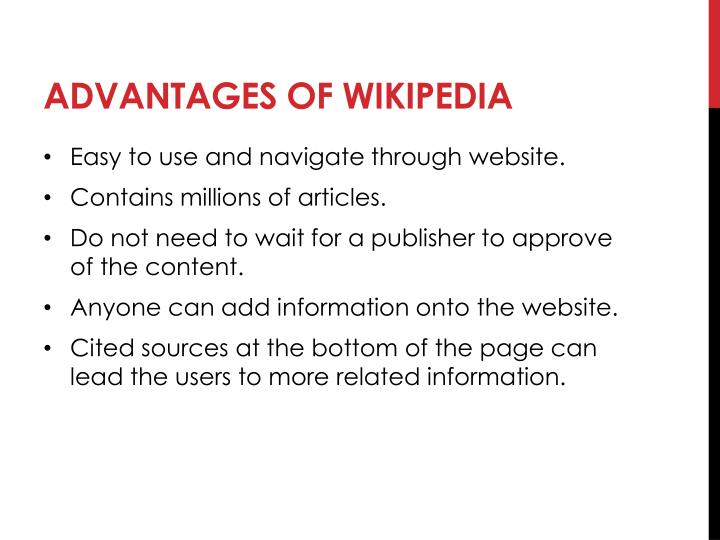 disadvantages of wikipedia An electronic book (also called an e-book, ebook or digital book) is a book in digital form disadvantages ebooks aren't good.