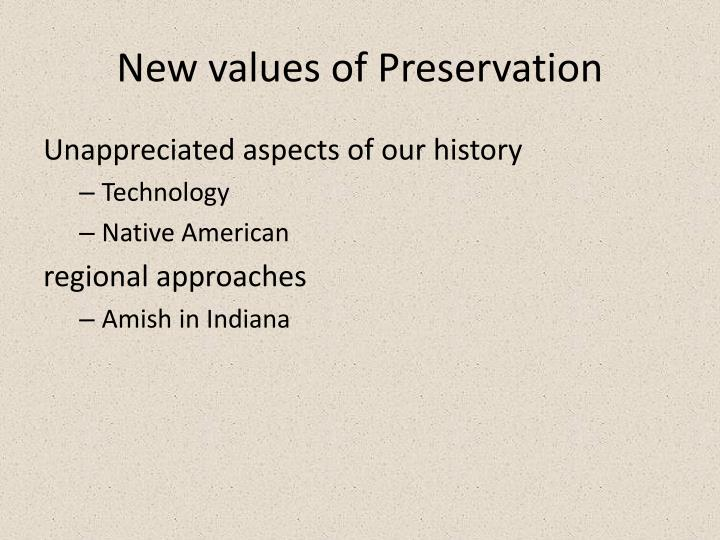 New values of Preservation