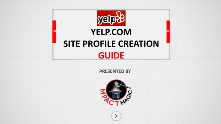Yelp com site profile creation guide