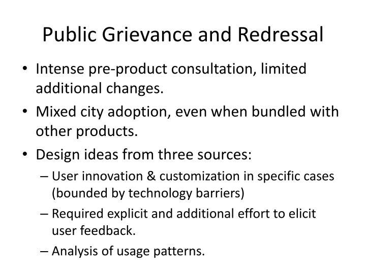 Public Grievance and