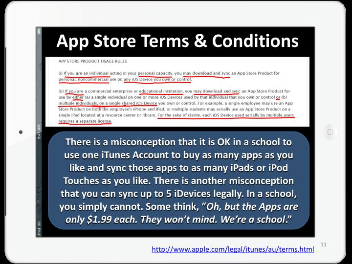 App Store Terms & Conditions
