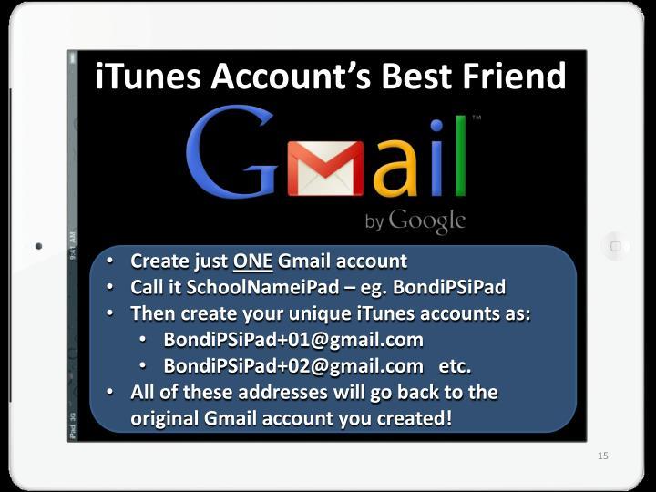 iTunes Account's Best Friend