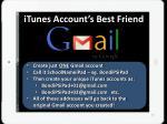 itunes account s best friend