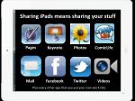 sharing ipads means sharing your stuff