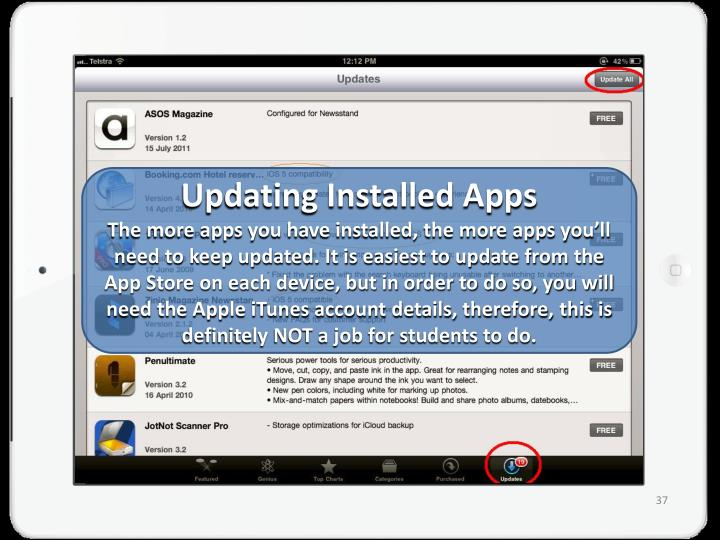 Updating Installed Apps