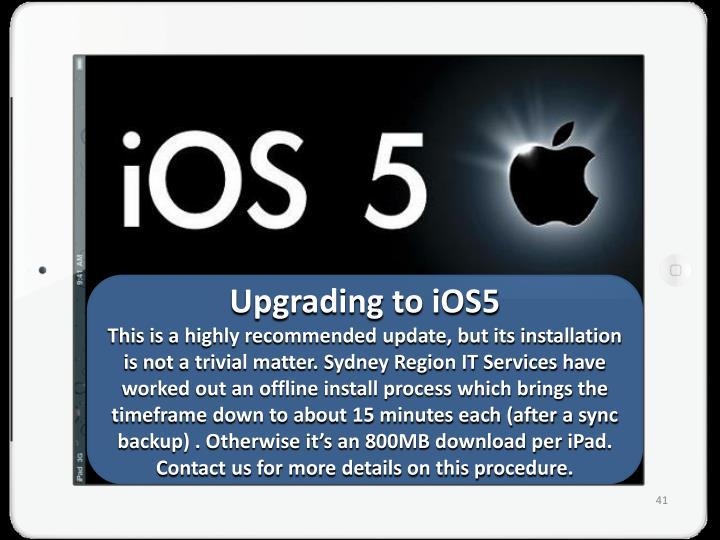 Upgrading to iOS5