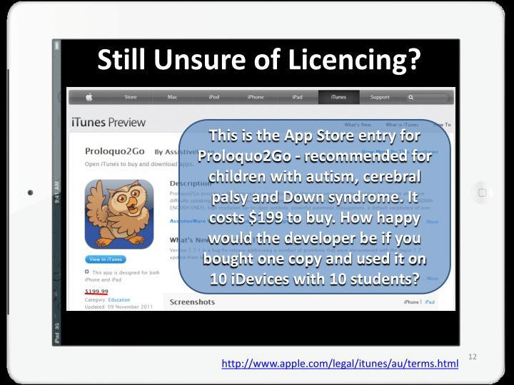 Still Unsure of Licencing?