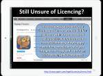 still unsure of licencing