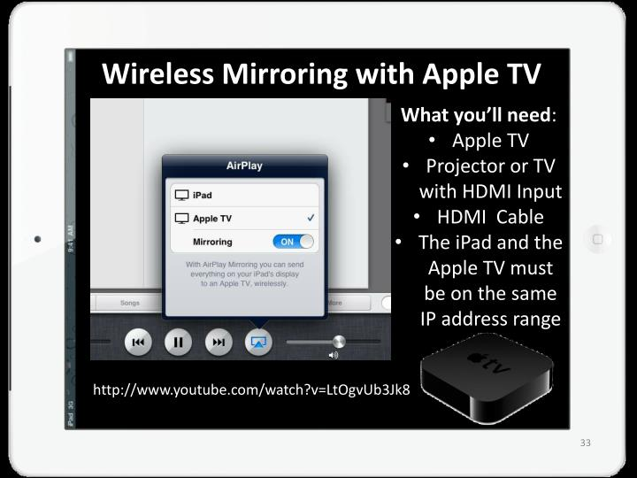 Wireless Mirroring with Apple TV