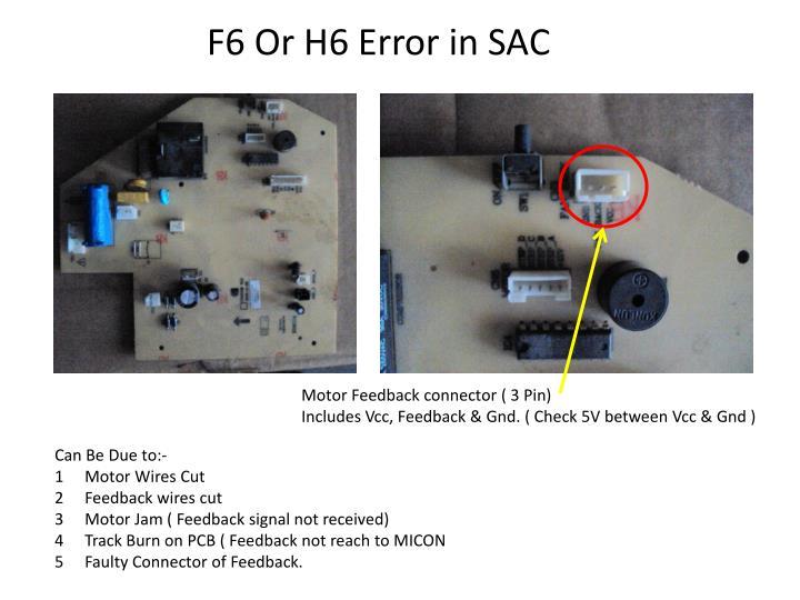 F6 Or H6 Error in SAC