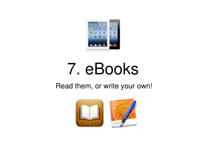 7. eBooks