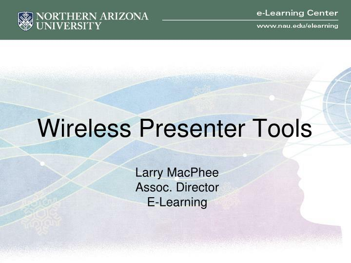 Wireless presenter tools