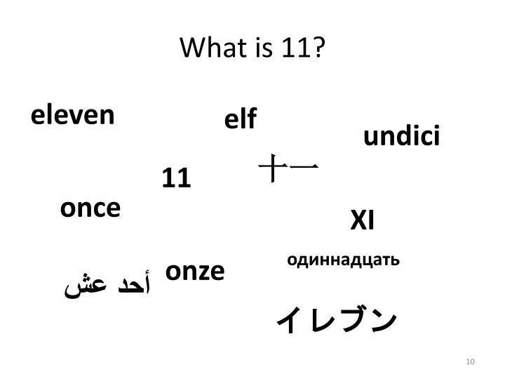 What is 11?