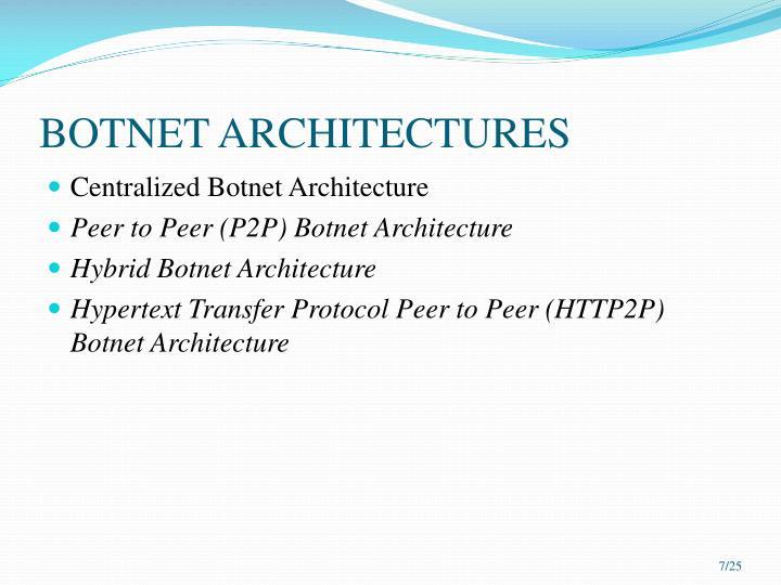 BOTNET ARCHITECTURES
