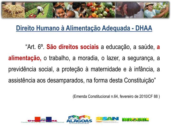 Direito Humano à Alimentação Adequada - DHAA