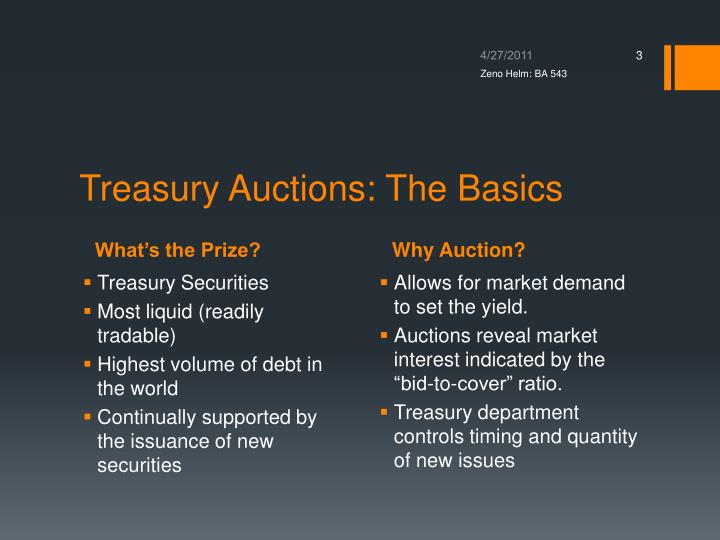 Treasury auctions the basics