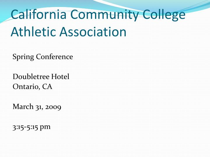California community college athletic association