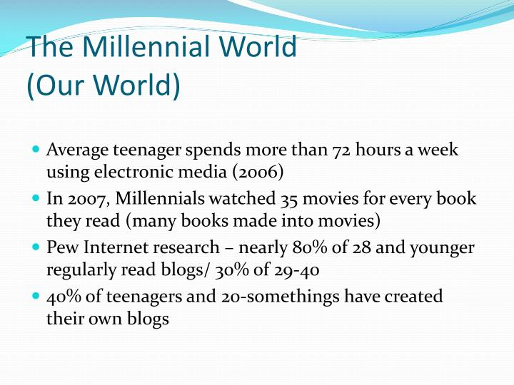 The Millennial World