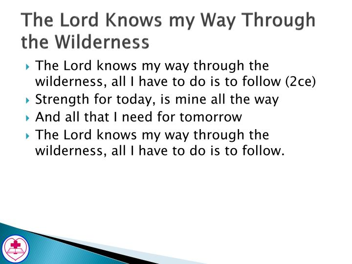 The Lord Knows my Way Through the Wilderness
