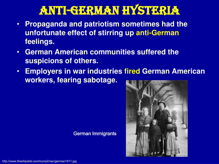 Anti-German Hysteria