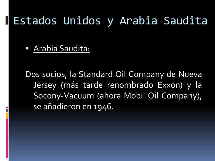 Estados Unidos y Arabia Saudita