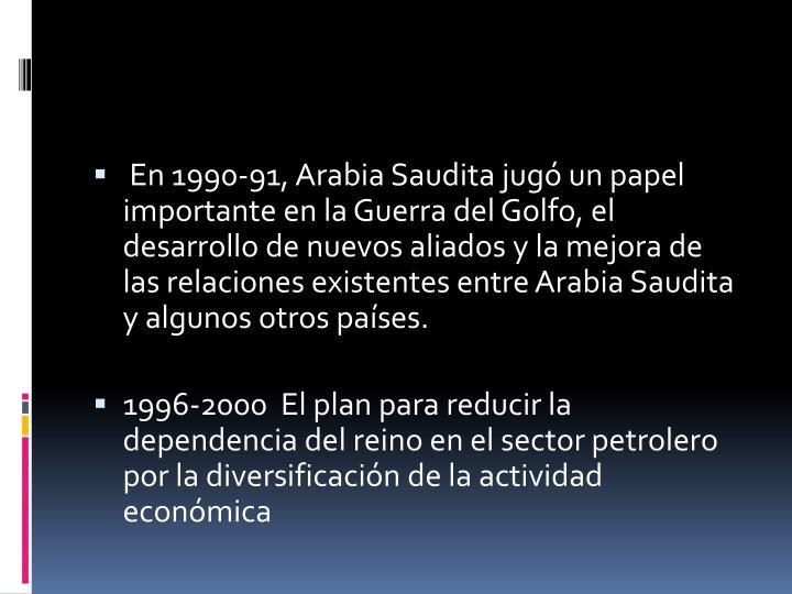 En 1990-91, Arabia