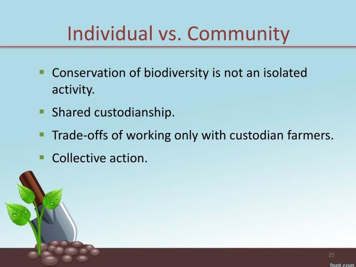 Individual vs.