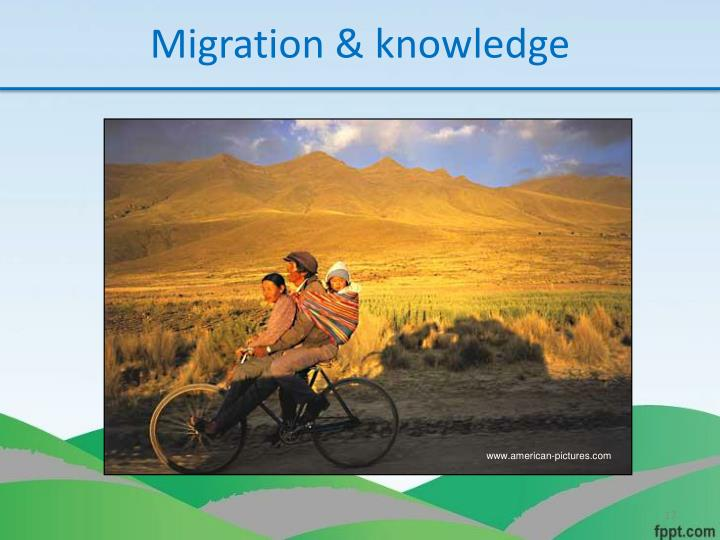 Migration & knowledge