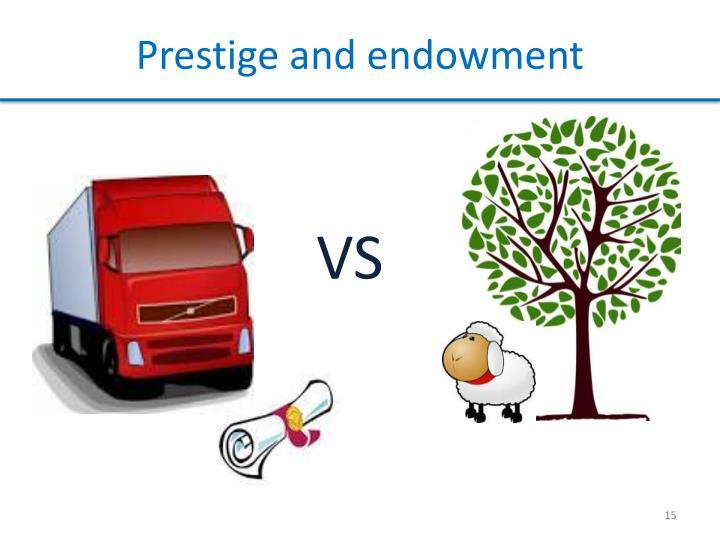 Prestige and endowment