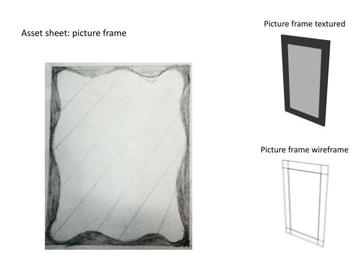 Asset sheet: picture frame