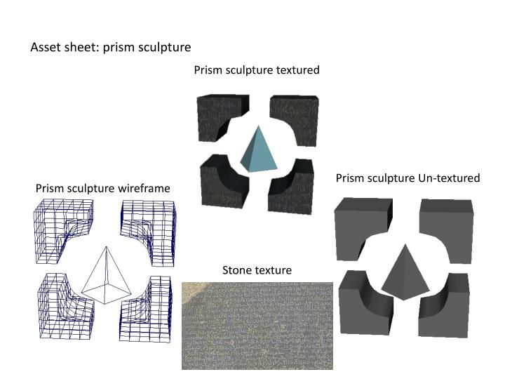 Asset sheet: prism sculpture