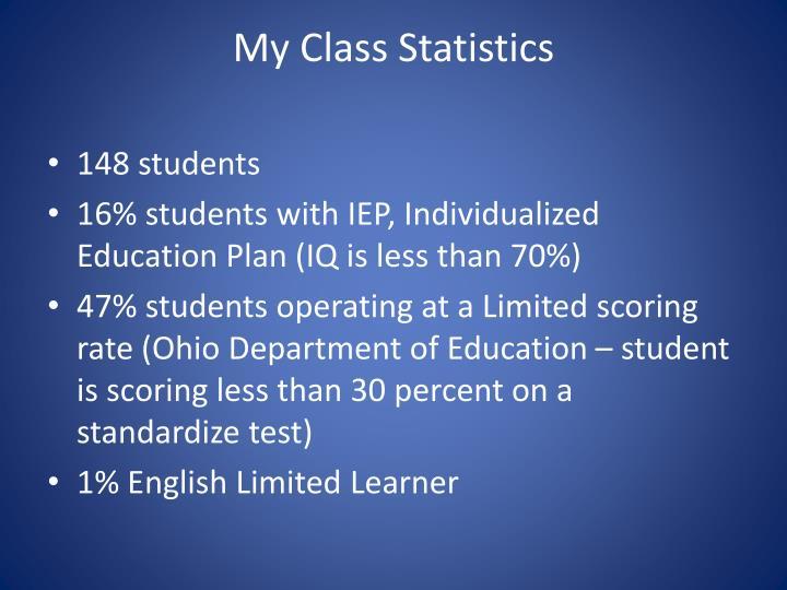 My Class Statistics