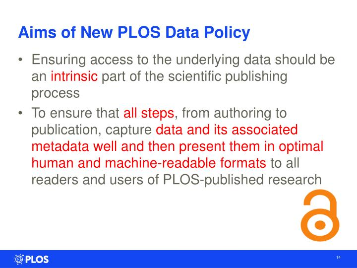 Aims of New PLOS
