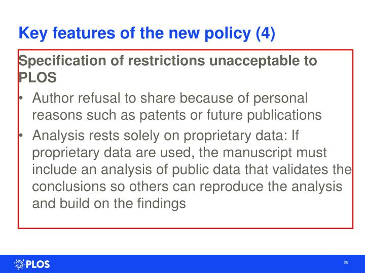 Key features of the new policy (4)