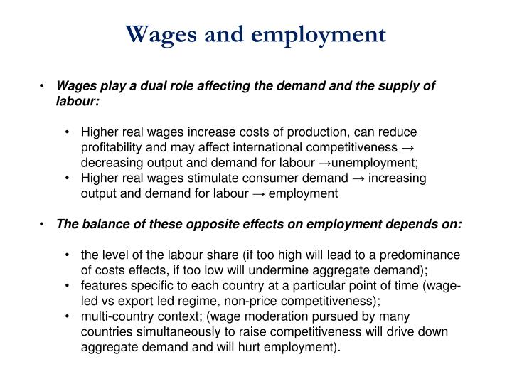 Wages and employment
