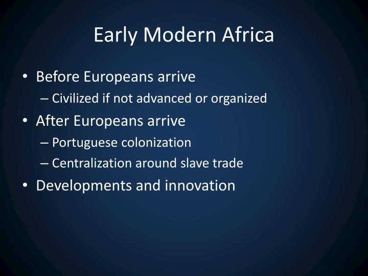 Early Modern Africa